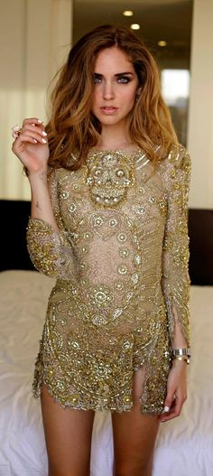 Uk Emilio Pucci Gold Sequins Dress Emilio Pucci cockatil