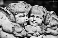 A John Walz sculpture of two baby angels at Bonaventure Cemetery in Savannah, Georgia. - April O'Hare Photography http://www.apriloharephotography.com