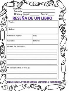Lectura Spanish Language Learning, Teaching Spanish, Reading Resources, Reading Activities, Spanish Anchor Charts, Book Report Templates, Reading Club, School Tool, School Items