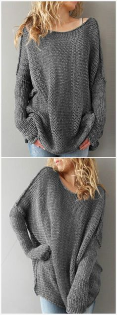 Oversized, comfy women's sweater