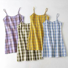 Plaid Sling Dress sold by FE CLOTHING. Shop more products from FE CLOTHING on Storenvy, the home of independent small businesses all over the world. Kpop Fashion Outfits, Girls Fashion Clothes, Korean Outfits, Retro Outfits, Trendy Outfits, Fashion Tips, Cute Comfy Outfits, Cool Outfits, Mode Pastel