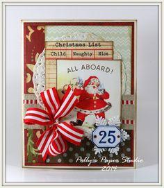 Naughty or Nice Santa Greeting Card Handmade by PollysPaper