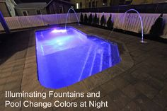 Relax in the incredible pool with multi colored LED fountains. Ferguson Dechert Real Estate Avalon, NJ