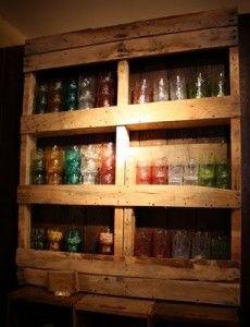 pallet Shelf - Indoor canning storage