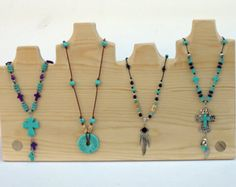 Multiple Necklace Display 18 x 10.5 high 4 di JimHarmonDesigns