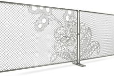 Good Fences Don't Make Good Neighbors… Unless it's a Lace Fence http://www.simplifiedbuilding.com/blog/lace-fence-designer-fencing/ #KeeKlamp #design #art #industrialpipe