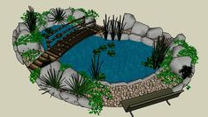 love this back yard design Ponds For Small Gardens, Small Ponds, Koi Fish Pond, Fish Ponds, Swimming Pools Backyard, Ponds Backyard, Garden Ponds, Garden Pond Design, Yard Design
