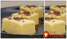 Opäť, magický koláč, teraz citrónová príchuť. Jednoduché cesto sa počas pečenia premení na viacvrstvový koláč.Citrónový, špeciálny a ľahučký, skutočne báječný dezert. Potrebujeme: 4 vajcia 1 čajová lyžička vanilkového extraktu 150 g kr. cukru 125 g roztopeného masla 115 g hl. múky cca.1 a 1/2 šálky mlieka 2 citróny – potrebujeme šťavu z nich Postup: Najprv... Fun Easy Recipes, Keto Recipes, Easy Meals, Thing 1, Sweet Desserts, Cheesecake, Food And Drink, Lemon, Pudding