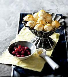 Sorvete de limão siciliano com framboesas (Foto: StockFood/Great Stock!)