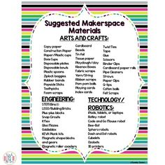 So You Want to Start a Makerspace? - Teach Outside the Box Library Activities, Stem Activities, Learning Activities, Teaching Ideas, Stem Teaching, Space Activities, Teaching Biology, Engineering Design Process, Student Numbers