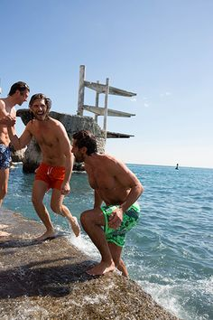 Badespaß am Meer.