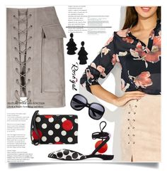"""""""Mini Skirt with pockets *78"""" by zenabezimena ❤ liked on Polyvore featuring Pierre Hardy, RED Valentino, Oscar de la Renta, Summer, summerstyle, fashionset and rosegal"""