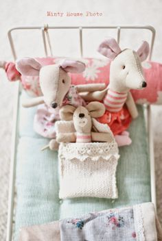 Maileg mice from the Minty House blog...
