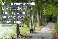 It's not easy to walk along. Magnolia Plantation Gardens. Joan Perry #walkingquote