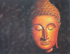 Oil Painting Buddha Hand painted Wall art Picture Painting Canvas Home decor 75x100cm