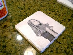 Found some .36 cent tiles at the local home improvement store….needed to do something with them! So I thought of these coasters. Really easy and cute! Great easy fun project to do with the kids! Ceramic Photo Tiles Supplies: Four tile (4X4) around .36 cents eachacid-free copy-weight paper, whitecomputer and photo printerMod Podge Decoupage Gluesponge …