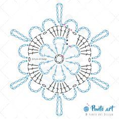 Crochet ideas that you'll love Free Crochet Snowflake Patterns, Crochet Symbols, Crochet Stars, Christmas Crochet Patterns, Holiday Crochet, Crochet Snowflakes, Crochet Flower Patterns, Crochet Diagram, Granny Square Crochet Pattern