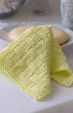 Basketweave Washcloth Knitting Pattern