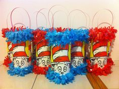 The Cat in the Hat / Dr. Seuss Mini Pinata Party Favor/Goodie Bag