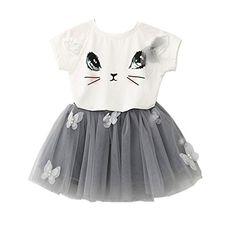 2-7 Years New Kids Girls Princess Dresses Wedding Party Kids Dress TM Fulltime