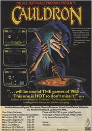 Advert for Cauldron on the Amstrad CPC.
