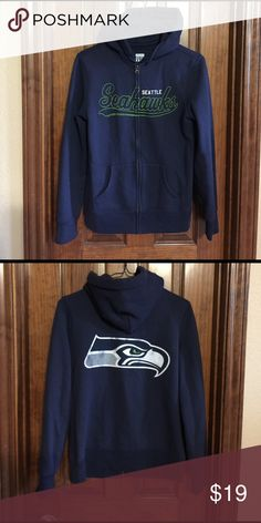 Seahawks Sweater VERY comfy Seahawks zip up hoodie. I love this but the arms are sadly too short for me, never worn just tried on. Junk Food Sweaters