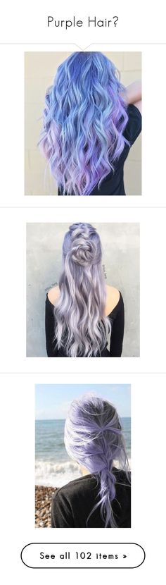 """Purple Hair💜"" by moon-crystal-wolf ❤ liked on Polyvore featuring hair, accessories, hair accessories, purple hair accessories, beauty products, haircare, hair styling tools, home, home decor and hair styles"