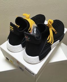 Adidas x Pharrell Human Race NMD BLACK BB3068 HU Size 7.5 boost yeezy 350 7 b8c1b99a386