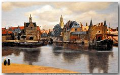 VERMEER, JOHANNES (1632-1675) - View of Delft, detail. Mauritshuis, The Hague.  c.1660-1661.