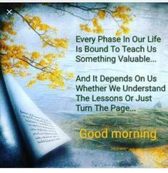 Good Morning Learn From Your Life Lessons