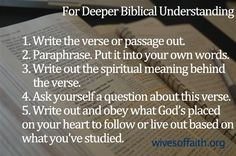 Tips on deeper Bible study