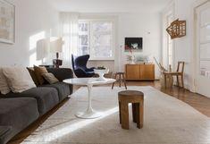 Mid-century modern meets vintage meets rustic style