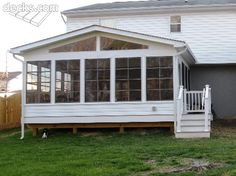 Low Elevation Deck Picture Gallery 4 Season Sunroom Three Porch 3 Room
