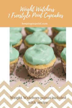 Mini Cupcakes – 1 Freestyle Point Each Weight Watchers Cupcakes, Weight Watchers Muffins, Weight Watchers Desserts, Ww Desserts, Healthy Dessert Recipes, Delicious Desserts, Plated Desserts, Yummy Food, Mini Cupcake Pan
