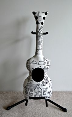 Colour Me In Classic Guitar Pillow Guitar Softie by VoxandDolly