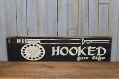 Primitive Sign Hooked for life by lowkeycreations on Etsy