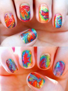 marble nail abstract Marble Nail Art Process