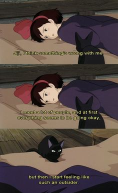 Kiki's Delivery Service a Japanese animated fantasy film produced by Studio Ghibli. It was written, produced and directed by Hayao Miyazaki. Studio Ghibli Films, Studio Ghibli Art, Studio Ghibli Quotes, Kiki Delivery, Kiki's Delivery Service, Hayao Miyazaki, Howls Moving Castle, Animation, Anime Characters