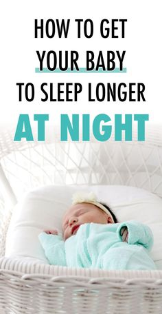 Use these baby sleep tips to get your baby to stretch their night feeds and sleep longer at night. Over time they will learn how to sleep through the night and everyone will get a lot more rest! Getting Baby To Sleep, Help Baby Sleep, Toddler Sleep, Get Baby, Good Sleep, Sleep Better, How Can I Sleep, Ways To Sleep, How To Sleep Faster