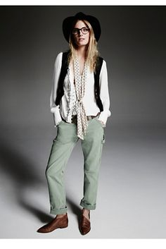 Wyatt Carpenter Pant | Free people Classic utility pants in a washed out, distressed cotton.