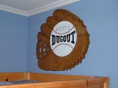 Baseball Room Theme Ideas | Baseball Theme Wall Mural