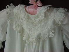 Antique Doll~Baby Christening Gown~VICTORIAN BABY DRESS~Ready to wear!