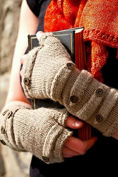 Sokol fingerless mitts  by Melanie Berg