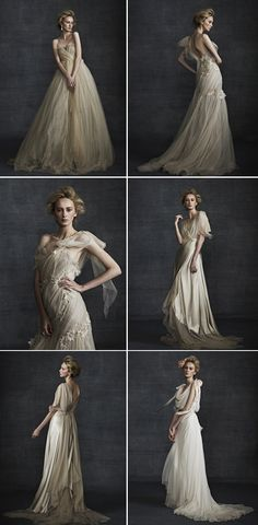 Gorgeous Samuelle Couture dresses featured on OnceWed blog.