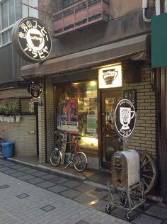 작은 커피숍을 찾다가 ... 간신히 발견. in 도톰보리.