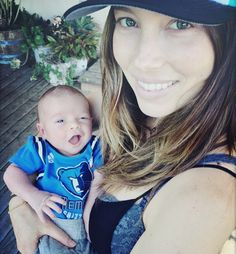 Justin Timberlake and Jessica Biel share photo of new baby Silas.
