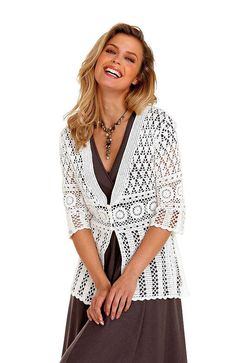 Crocheted sweater tunic coats cardigan made to order by dosiak,