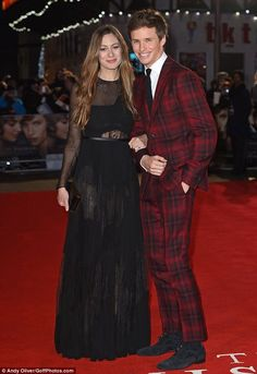 Eddie Redmayne and his wife Hannah Bagshawe arrived at the London premiere of The Danish Girl.