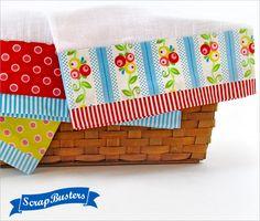 ScrapBusters: Fancy Border Tea Towels | Sew4Home