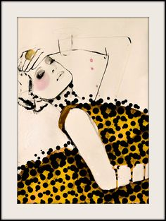 Current  Fashion Illustration Art Print by LeighViner on Etsy, $28.00